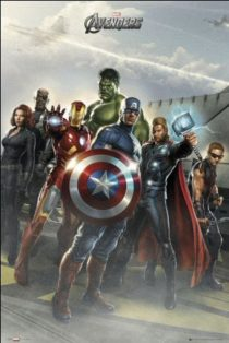 The Avengers Assembled Captain America in Front 24 x 36 Inch Comics Poster