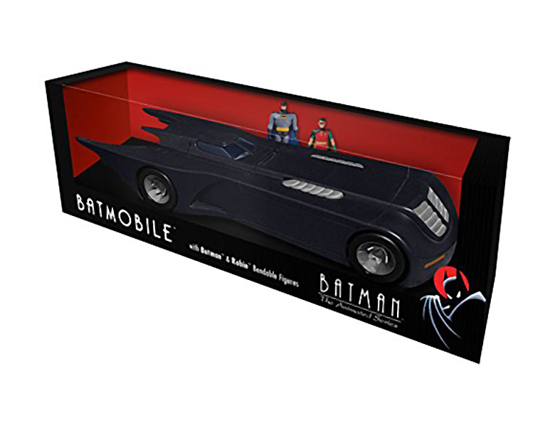 Batman The Animated Series Batmobile with Bendable Batman and Robin Figures Vehicle