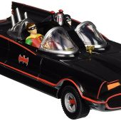 Batman Classic TV Series Batmobile with Bendable Figures Ten Inch: Adam West & Burt Ward