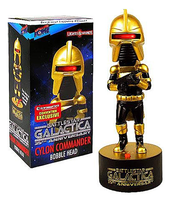 Bif Bang Pow Convention Exclusive 35th Anniversary Battlestar Galactica Cylon Commander Bobble Head