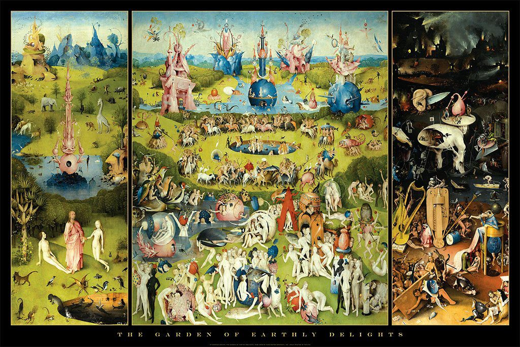 Hieronymus Bosch The Garden of Earthly Delights 36 x 24 Inch Art Print