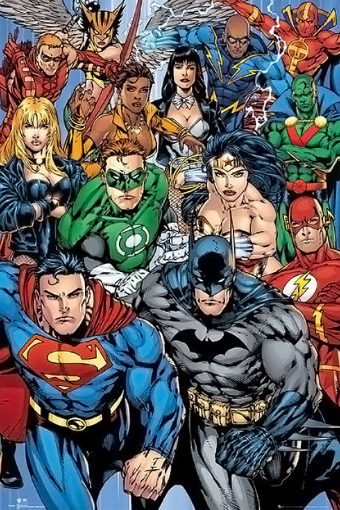DC Comics Collage Flash, Superman, Batman, Wonder Woman 24 x 36 inch Poster