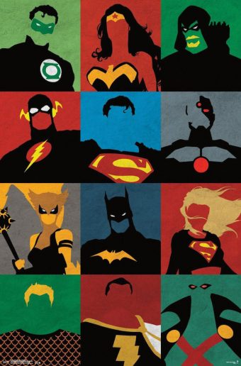 Justice League of America 22 x 34 inch Minimalist Graphic Arts Comic Poster