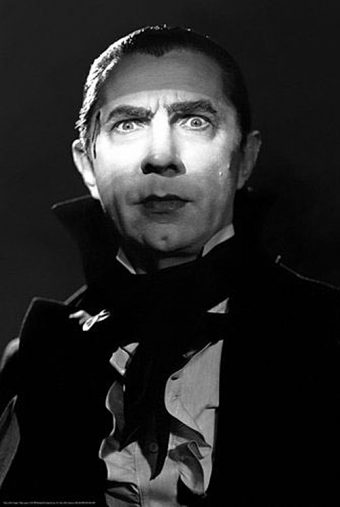Bela Lugosi as Dracula 24 x 36 inch Black & White Movie Poster