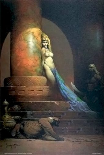 Frank Frazetta Egyptian Queen 24 x 36 inch Fantasy Art Poster