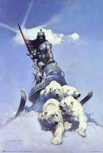 Frank Frazetta Silver Warrior 24 x 36 inch Fantasy Art Poster