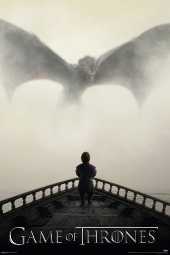 Game of Thrones Lion & Dragon 24 x 36 HBO TV Series Poster