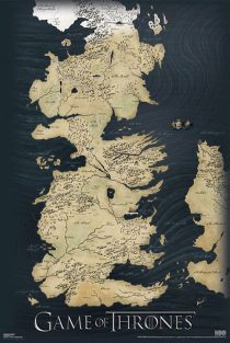 Game of Thrones Map 24 x 36 inch HBO TV Series Poster