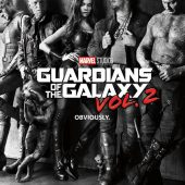 Guardians of the Galaxy: Volume 2 Black & White Noir 22 x 34 inch Movie Poster