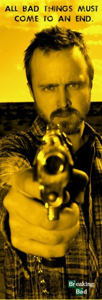 Breaking Bad's Jesse Pinkman Pointing Gun 12 x 36 inch TV Series Poster