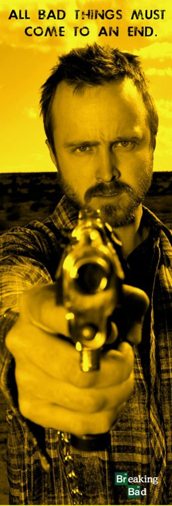 Breaking Bad's Jesse Pinkman Pointing Gun 12 x 36 inch TV Series Poster