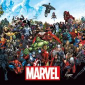 Marvel Characters Line-Up 34 x 22 inch Comics Poster