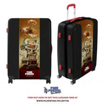 Film Fetish is trippin' out over this custom luggage giveaway