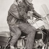 Speedbound Marilyn Monroe and James Dean on Motorcycle 24 x 36 Inch Poster