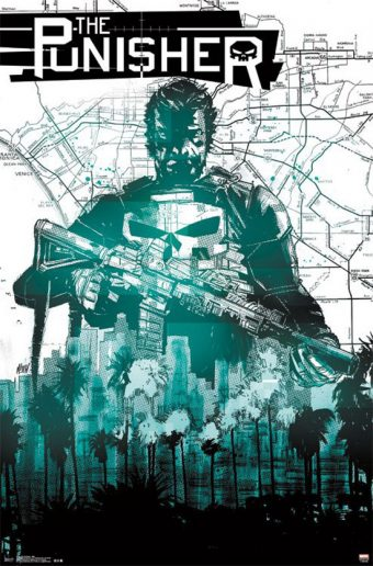 The Punisher 22 x 34 inch Green Comics Cover Poster