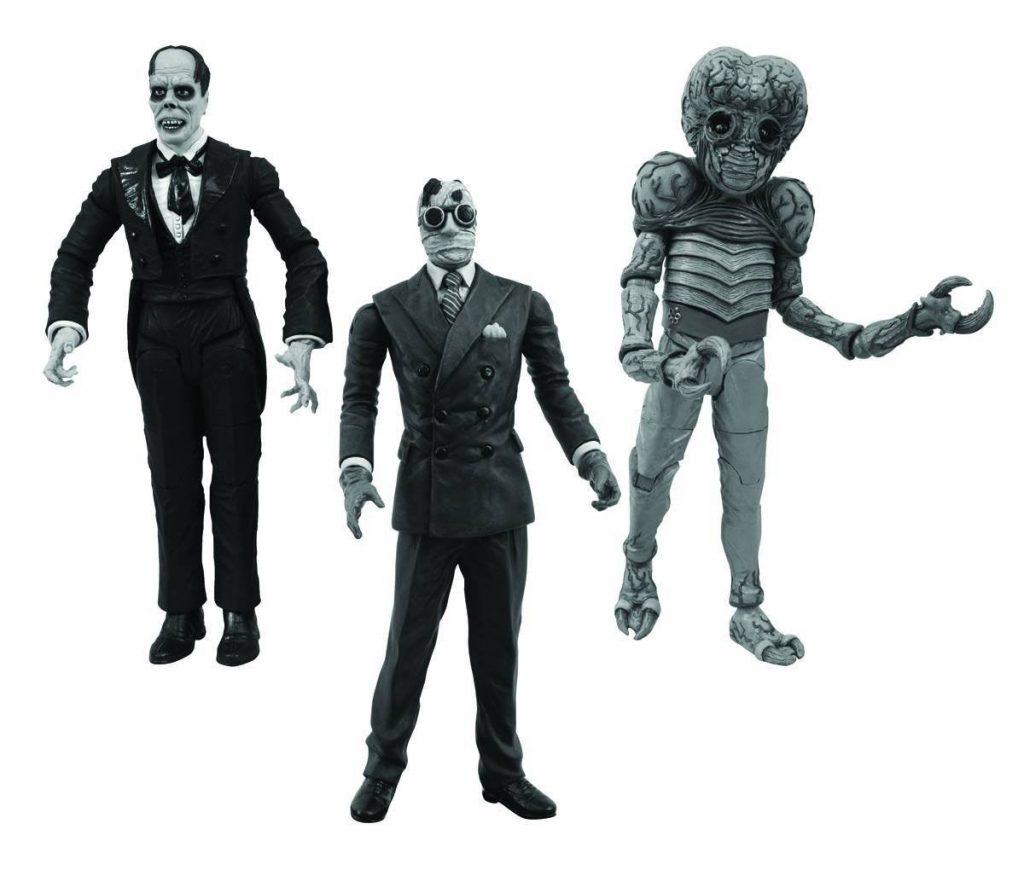 Universal Studios Monsters Legacy Series III 3 Figure Set: Invisible Man, Phantom of the Opera and Metaluna Mutant