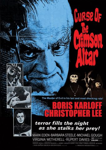 Curse of the Crimson Altar – Boris Karloff, Christopher Lee