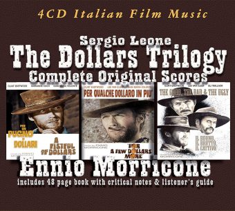 Sergio Leone The Dollars Trilogy Complete Original Scores by Ennio Morricone with 48-page Book