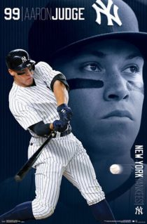 Aaron Judge New York Yankees Number 99 Portrait 22 x 34 Inch Sports Poster