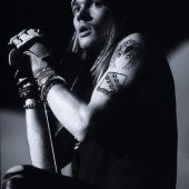 Axl Rose Performing in New York (1988) 24 x 33 Inch Poster [Black & White]