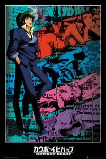 Cowboy Bebop Spike Spiegel Portrait 24 x 36 Inch Poster