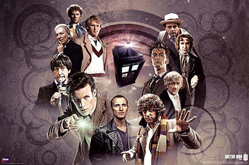 Doctor Who Doctor's Collage 36 x 24 Inch Television Poster