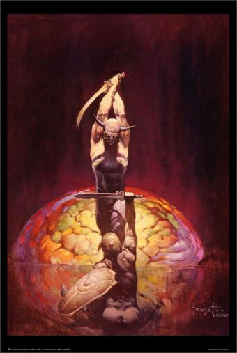 Frank Frazetta The Brain Painting 24 x 36 Inch Fantasy Art Poster