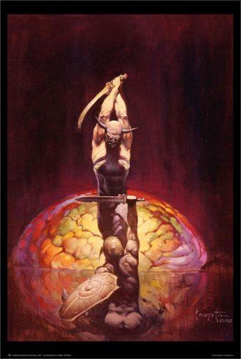 Frank Frazetta The Brain Painting 24 x 36 Inch Fantasy Art Poster