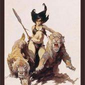 Frank Frazetta The Huntress Painting 24 x 36 Inch Fantasy Art Poster