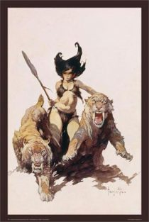 Frank Frazetta The Huntress Painting 24 x 36 Inch Fantasy Art Poster