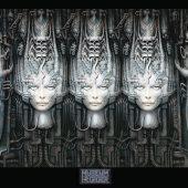 HR Giger Museum Li 2 3D Heads 36 x 24 Inch Poster