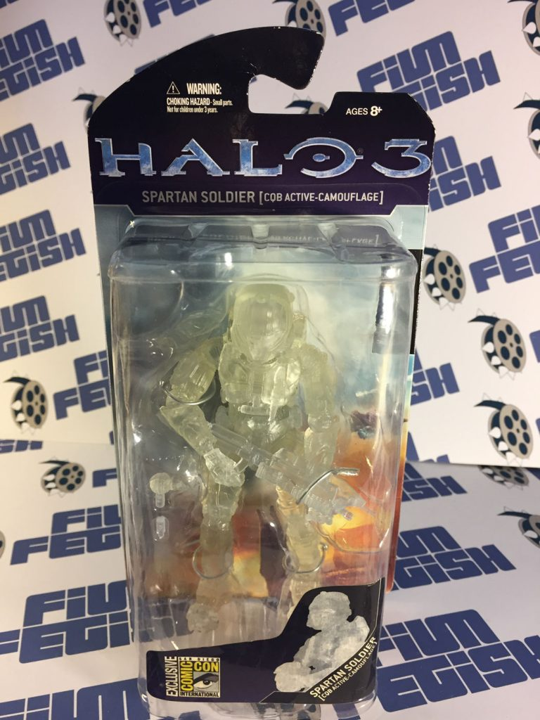 Halo 3 Spartan Soldier – CQB Active-Camouflage Action Figure McFarlane Toys SDCC Exclusive
