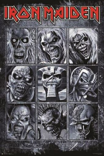 Iron Maiden – The Many Faces of Eddie 24 x 36 Inch Poster