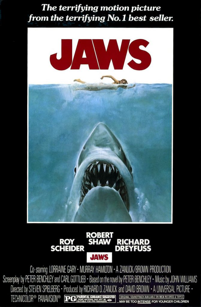 Jaws 24 x 36 Inch Movie Poster