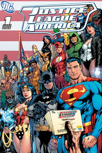 Justice League of America DC Comics Cover 24 x 36 Inch Poster