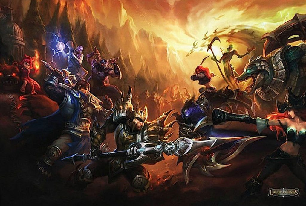 League of Legends 36 x 24 Inch Video Game Poster