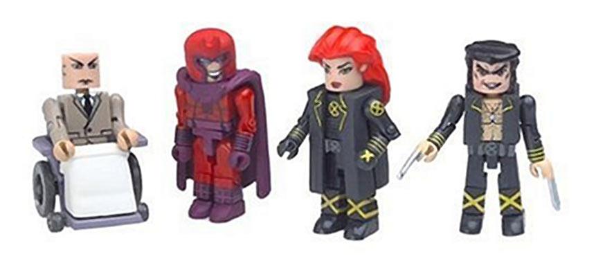 Marvel Universe MiniMates Toys 4-Pack – Phoenix, Professor X, Magneto and New Wolverine [Diamond Select/Art Asylum]