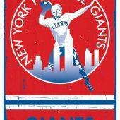 New York Football Giants Retro Logo 22 x 34 Inch Sports Poster