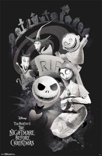 The Nightmare Before Christmas 22 x 34 Inch Movie Poster