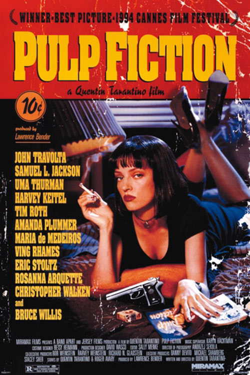 Pulp Fiction Paperback-Style 24 x 36 Inch Movie Poster