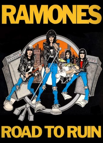 The Ramones Road to Ruin 24 x 33 Inch Illustrated Music Poster