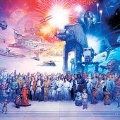 Star Wars Universe Character Collage Image 36 x 24 Inch Movie Poster
