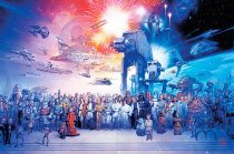 Star Wars Universe Galaxy Character Collage Image 36 x 24 Inch Movie Poster