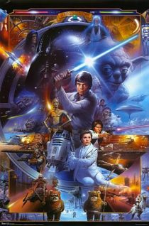 Star Wars Saga Character Collage 22 x 34 Inch Movie Poster