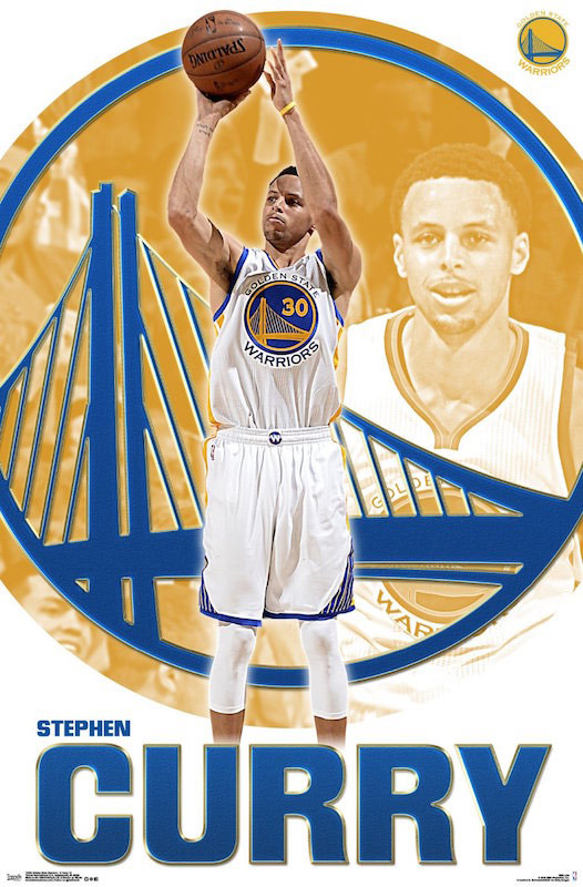 Stephen Curry Golden State Warriors 22 x 34 Inch Sports Poster