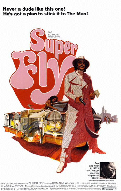 Super Fly 24 x 36 Inch Movie Poster