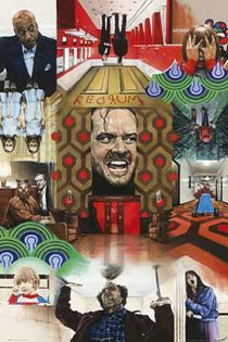 The Shining Painted Montage 24 x 36 Inch Movie Poster