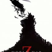 World War Z 22 x 34 Inch Black, White & Red Helicopter Movie Poster