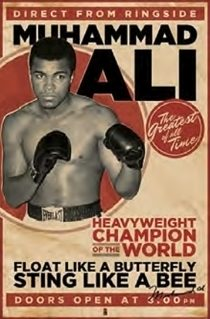 Muhammad Ali – Direct From Ringside 24 x 36 Inch Boxing Sports Poster