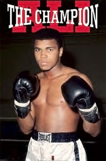 Muhammad Ali – The Champion 24 x 36 Inch Boxing Sports Poster